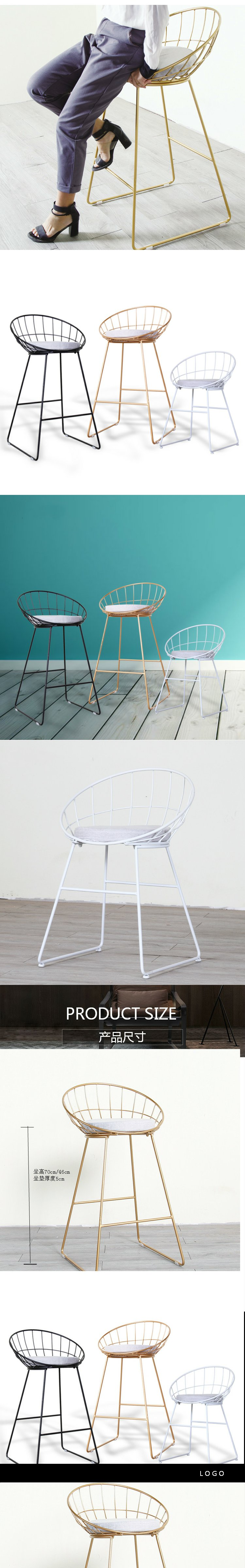 Diamond Hollow Wire Chair iron Table chair Bertoia dining chair ...