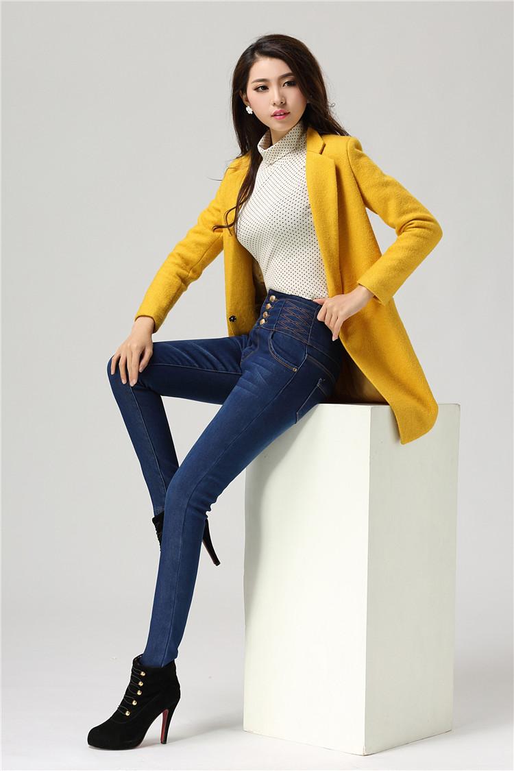 lee牛仔裤型号_加厚高腰牛仔裤女质量比较好 加厚高腰牛仔裤女 修身 2017网上专卖