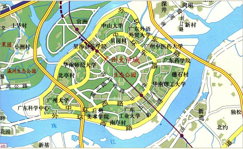 三水旅游图 广东省佛山市三水区中心城区地图