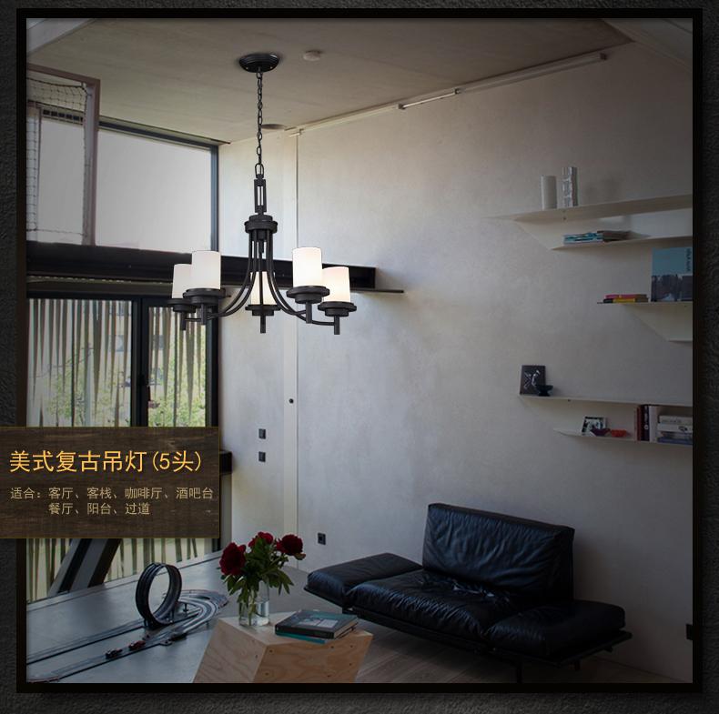 师的美式乡村复古工业吊灯餐厅卧室吊灯饰服装店吊灯wd972 9头双层 含