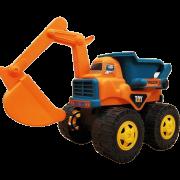 [达 闻 西 DWX] 1-3-6-9 세 어린이 관성 장난감 공학 차량 굴삭기 + 불도저 어린이 교육 완구 관성 공학 차량 대형 관성 굴삭기