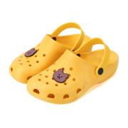Yidixiao 구멍 신발 여성 조수 미끄럼 방지 귀여운 소녀 심장 비치 샌들과 슬리퍼 여성 여름 구멍 신발에 한국 간호사 신발을 착용 노란색 곰 40-41 39-40 피트에 적합