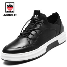 Apple APPLE casual shoes Korean version of the trend of men's shoes men's low-top shoes fashion set foot sports shoes men 8040 black 42
