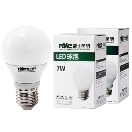 Ruth NVCLED bulb bulb 7 watts E27 big screw light energy saving lamp white light 6500K