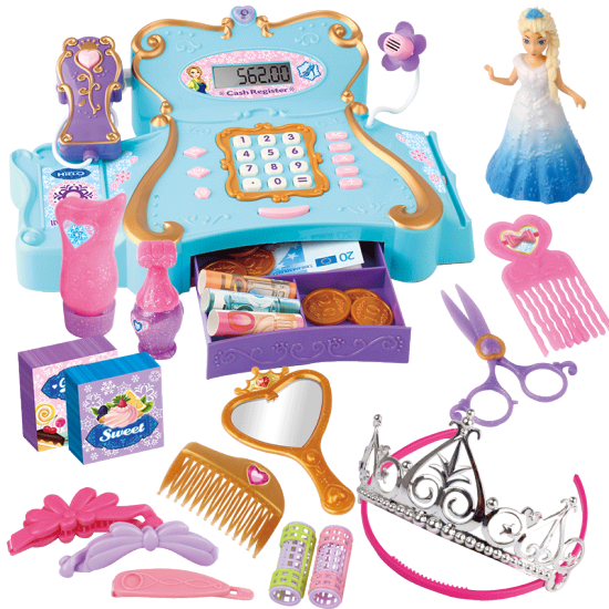 Five Star Supermarket Cash Register Toys Children Play House Toys Suit Girls Multifunction Baby Early Childhood Educational Toys 3 6 Year Old Aisha Qi Margin Of The Cash Register 28 Sets Of Computer Scanning