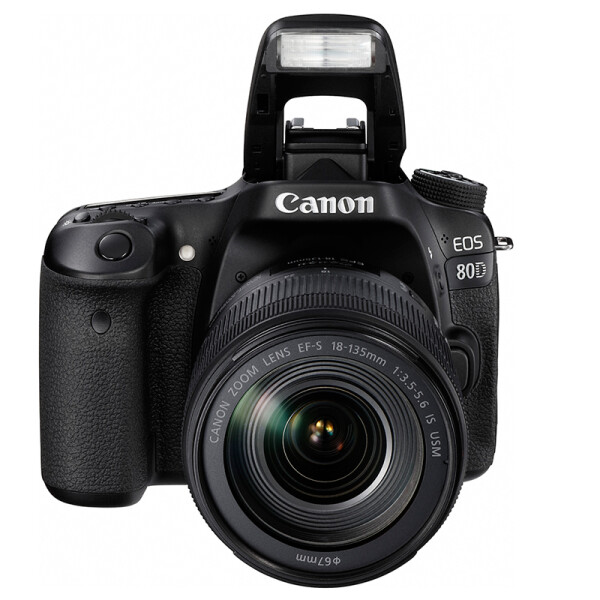 Canon CanonEOS 80D SLR SLR kit EF-S 18-135mm f / 3.5-5.6 IS USM SLR camera