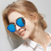 Bluekiki Polarized Sunglasses Women's Sunglasses Color Film Fashion Large Frame Polarized Driving Mirror 6066 Black Box Ice Blue