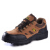 The old housekeeper 053 safety shoes men's steel Baotou anti-smashing work shoes safety shoes breathable comfort wear-resistant brown 41