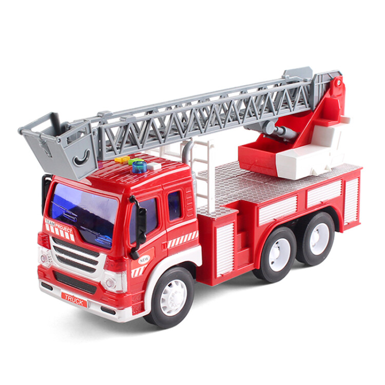 Fire truck toy engineering vehicle inertia car toy simulation car model  engineering vehicle excavator fire ladder truck 1:16