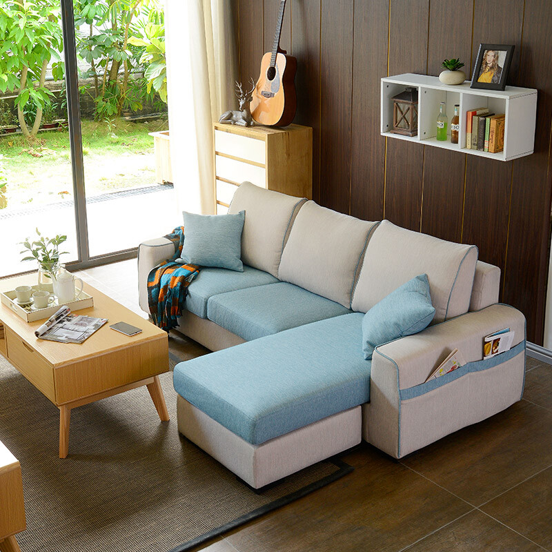 A Furniture Sofa Nordic Modern Living Room Removable And Washable Free  Combination Chaise Longue Fabric Sofa Beige White Blue ADS 035