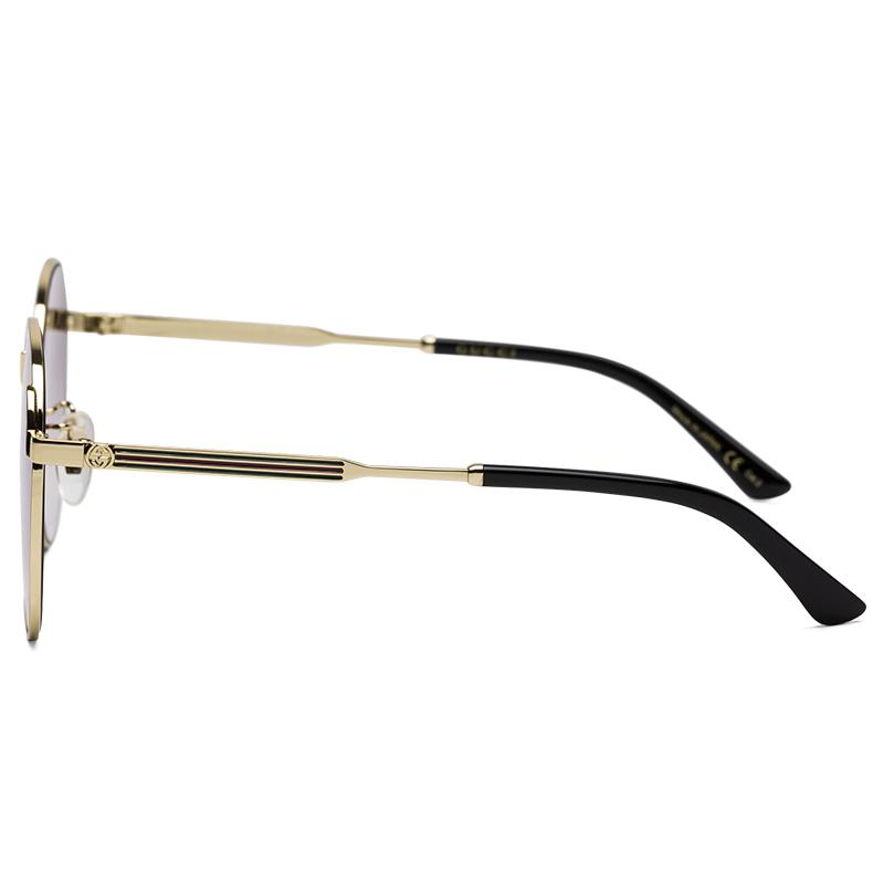 d7779a08f51 GUCCI Gucci eyewear men and women sunglasses neutral retro round frame  sunglasses GG0206SK-001 gold frame gradient gray ...