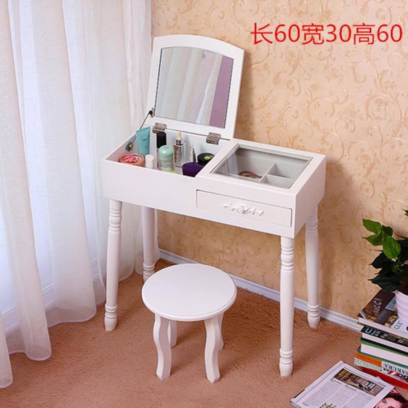 Harlowton Halodn Simple Dressing Table Mini Makeup Cabinet Mirror Flip