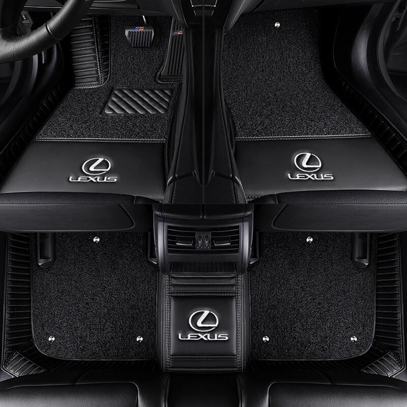 black with diamond lexus products stitching white mats floor