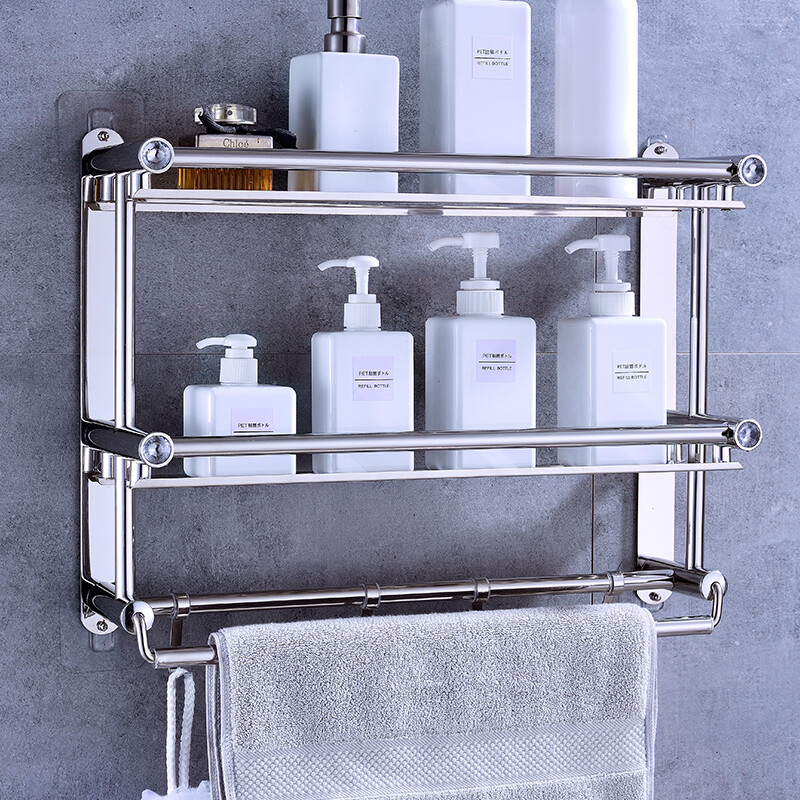 Free punching] stainless steel bathroom racks Bathroom toilets ...