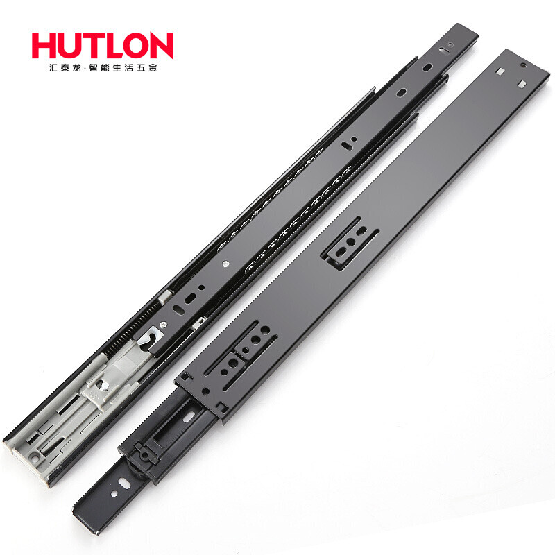 Hutlon Drawer Track Three Section Rail Closet Rail Solid Ball Slide Drawer  Runway Rail 5615 DS 380 With Damping 22 Inch (55 Cm) One Pay