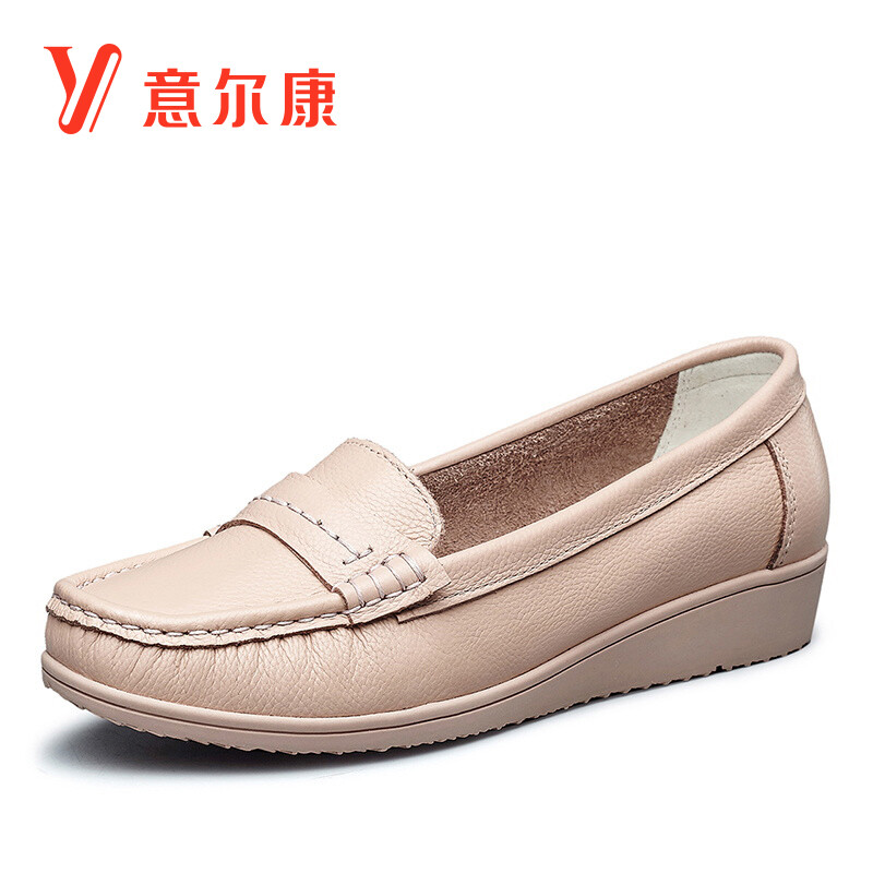item aliexpress in wholesale com low comfort heels s shoes comforter girl genuine flats loafers on nurse flat from female women leather casual comfortable