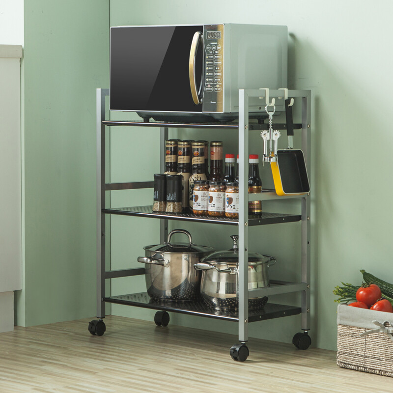 Sine Kitchen Shelf Bold Microwave Oven Stand Pot Holder Kitchenware Storage E Rack Portable Trolley 168463s