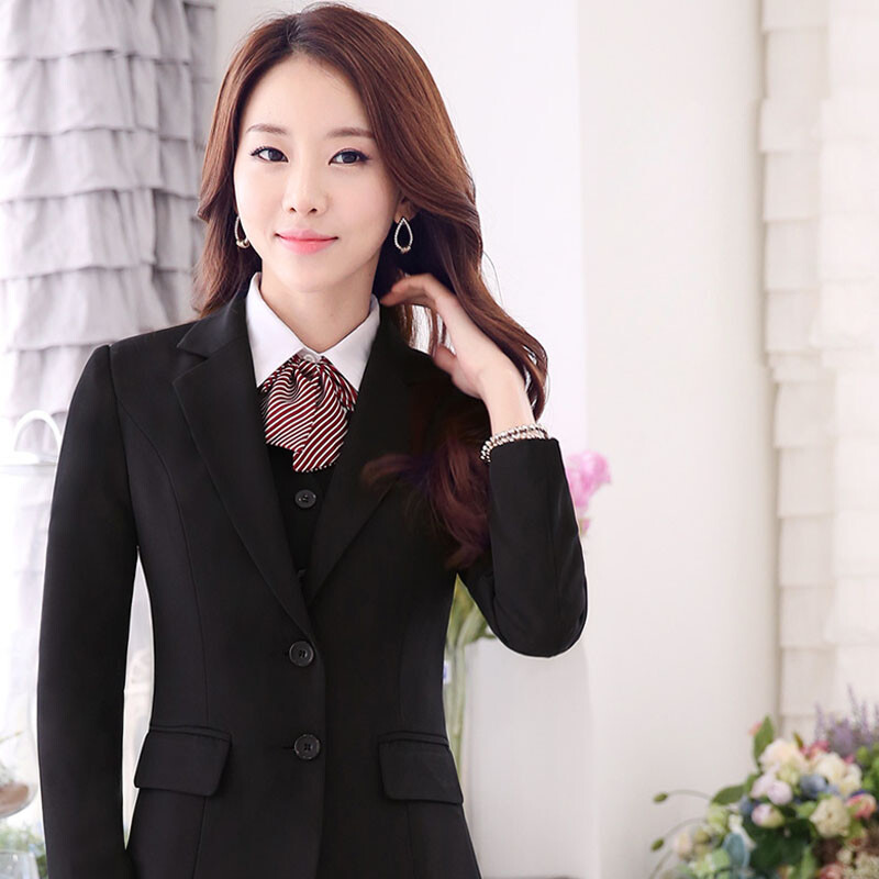European Small Suit Suit Female 2018 Spring Professional Wear