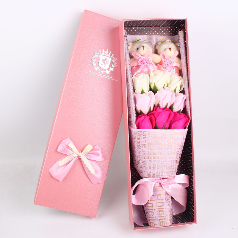 New Years Day Year Gift Rose Soap Flower Birthday Girl Send Wife Girlfriend Mom