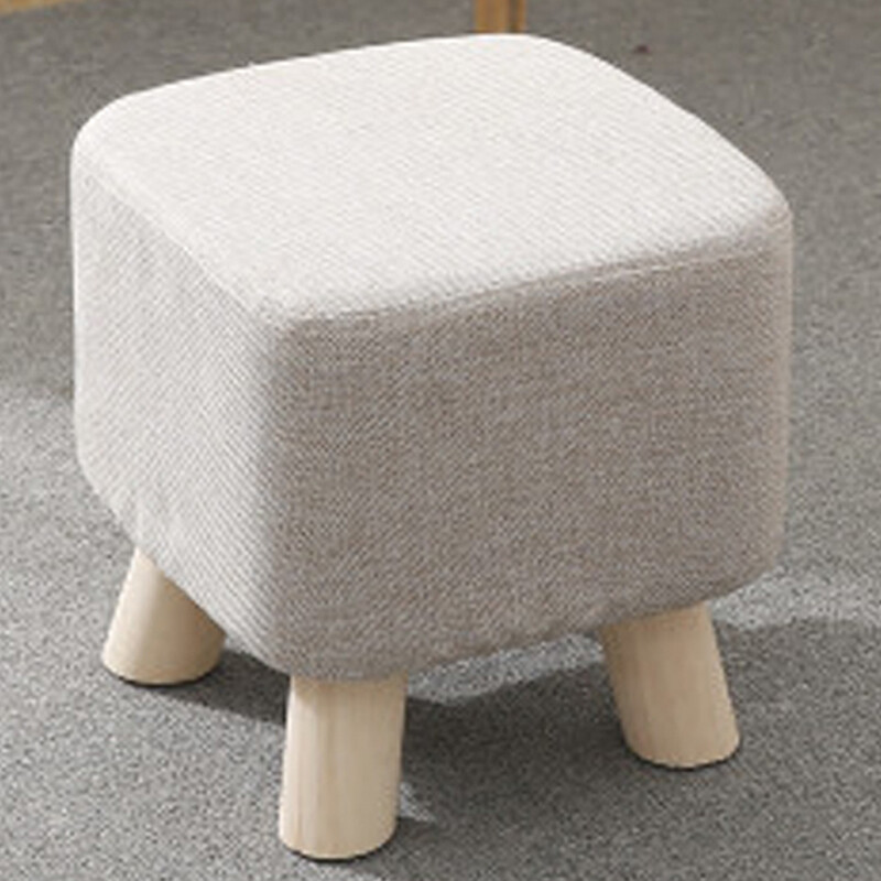 [2 Pieces 95% Off] Zhuohan Fashion Stool Creative Leather Stool Fabric Sofa Bench  Bench Stool Test Shoes Stool Solid Wood Cartoon Stool Sofa Chair Square ...