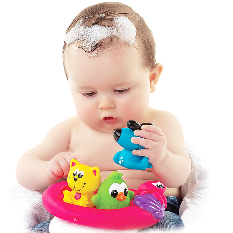 Playgro Pai Gao infant baby bath toys spray water marine sailing ...