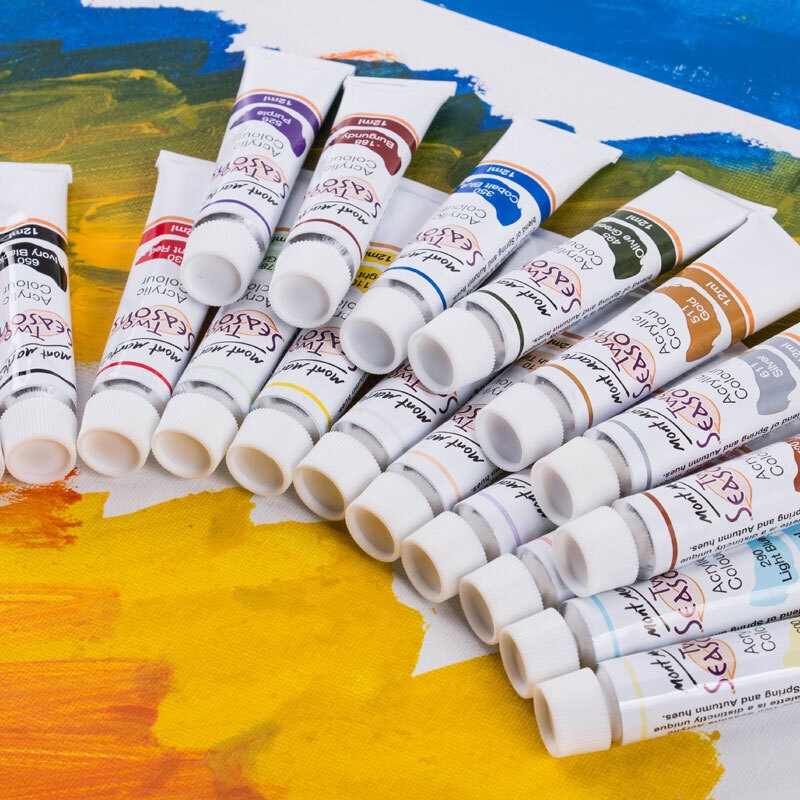 Montmartre Hand-painted 12/18 color acrylic paint box Graffiti wall ...