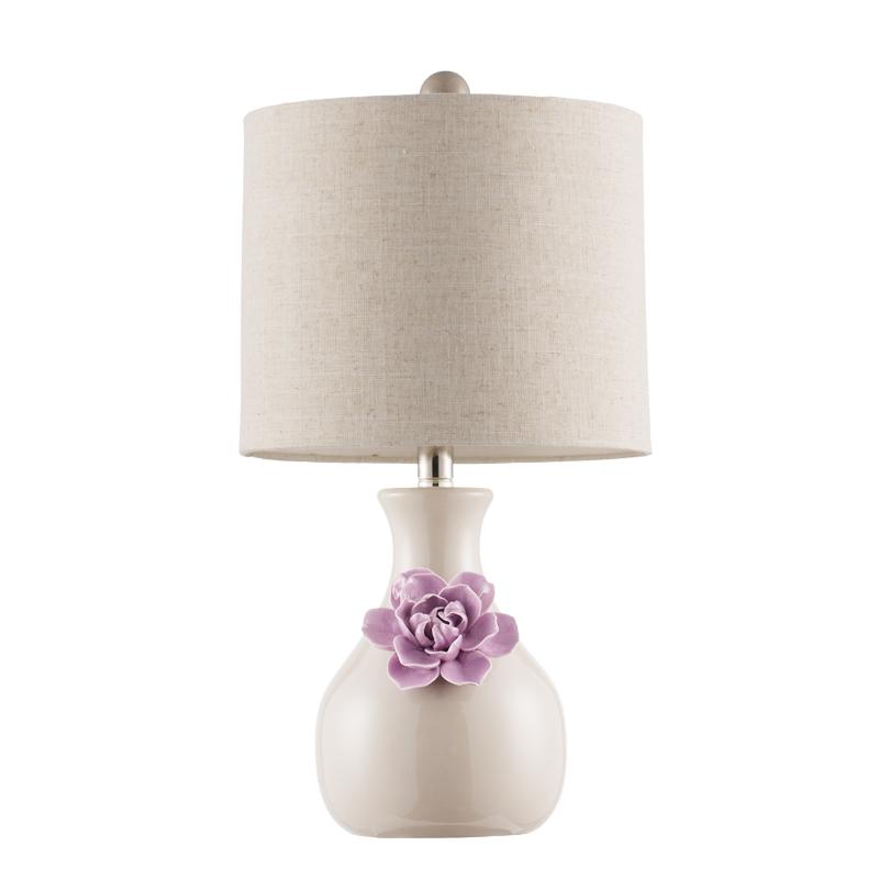 Living Wangstyle Ceramic Table Lamp Bedroom Bedside Lamp Modern Beauteous Light Purple Bedrooms Minimalist Decoration