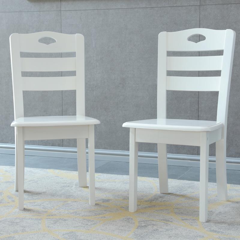 Geek GEEK Simple Dining Chair Stool Restaurant Study High Back Chair White  CY 355