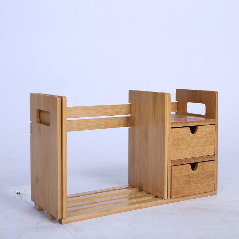Khalodon (HALODN) bamboo shelf simple desktop racks creative scalable desktop storage rack telescopic double desktop shelves & Khalodon (HALODN) bamboo shelf simple desktop racks creative ...