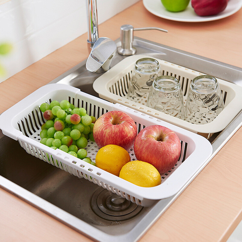 Kitchen Sink Drain Rack Tropical forest kitchen sink drain basket racks drain rack extension tropical forest kitchen sink drain basket racks drain rack extension basket dishes drain rack stainless steel sink telescopic sink drain rack white workwithnaturefo
