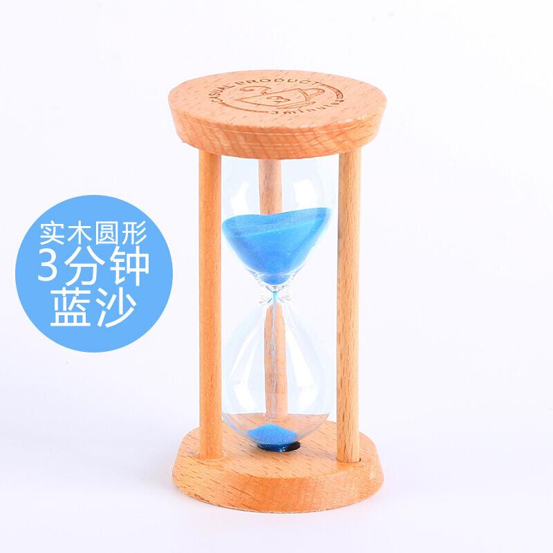 Children's birthday gift wooden hourglass timer children 3/5