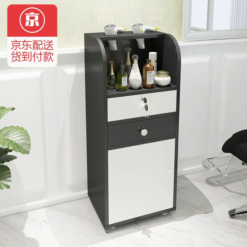 Cool Shark Hair Salon Tool Cabinet Barber Locker Hairdressing Display Cart Car Beauty Storage Black Body White