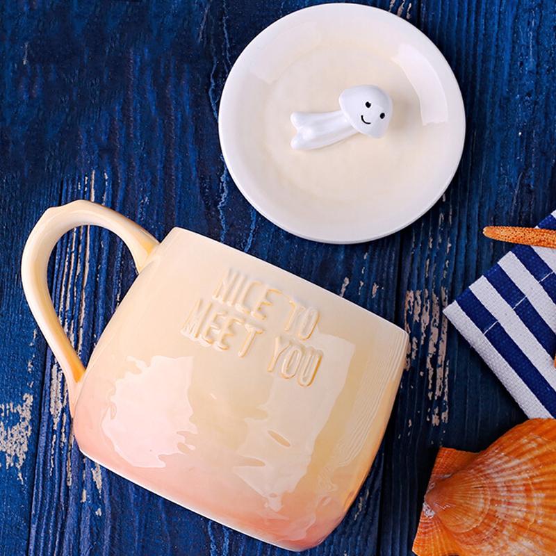 Christmas Gift Recommended Couple Ceramic Mug Sea Animal Style