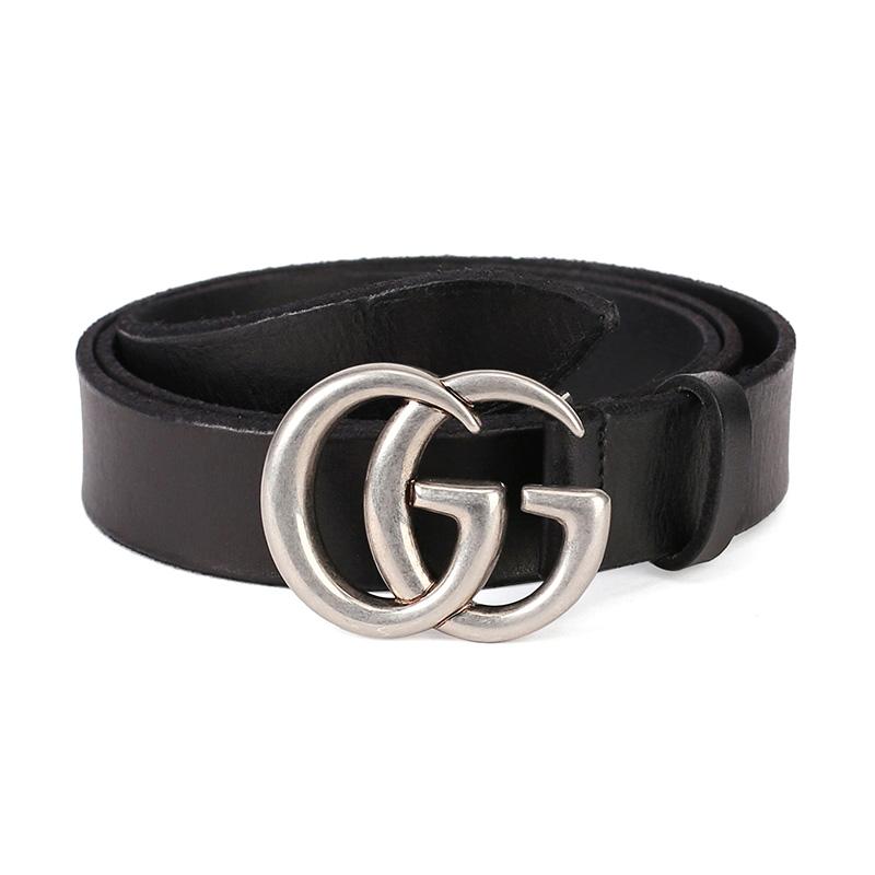 796ad6c7e GUCCI Gucci Black Leather Distressed Men's Belt 414516 CVE0N 1000 100