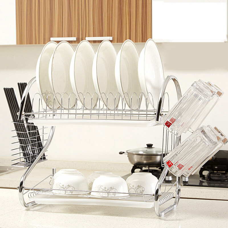 Philippine enjoy 304 stainless steel dish rack drain rack dish rack double bowl rack kitchen rack storage rack main frame + chopsticks cage + cup holder ...  sc 1 st  OpenChinaCart & Philippine enjoy 304 stainless steel dish rack drain rack dish rack ...
