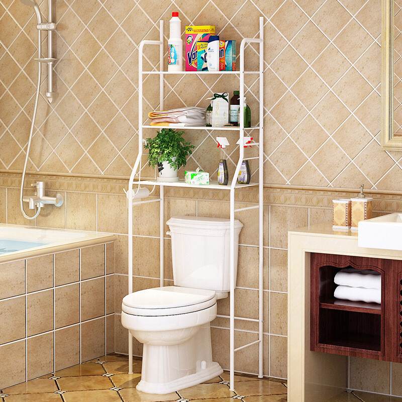 For The Toilet Racks Bathroom Bathroom Floor Storage Rack Kitchen Living  Room With Hook Washing Machine Storage Rack Toilet Rack   Piano White