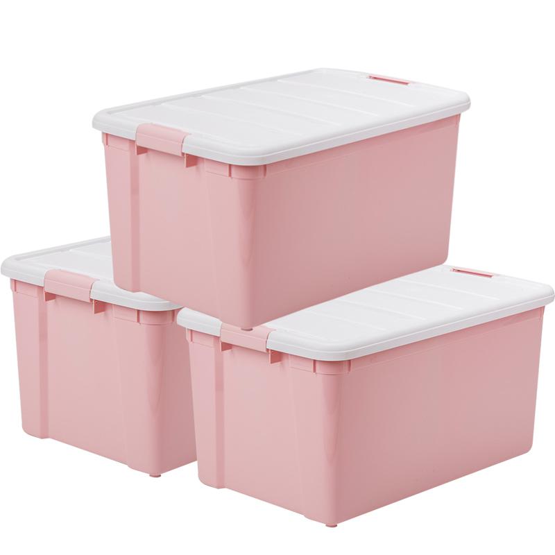 Alice IRIS Storage Box Storage Box Storage Box CSB60L White/Powder 3 Pack