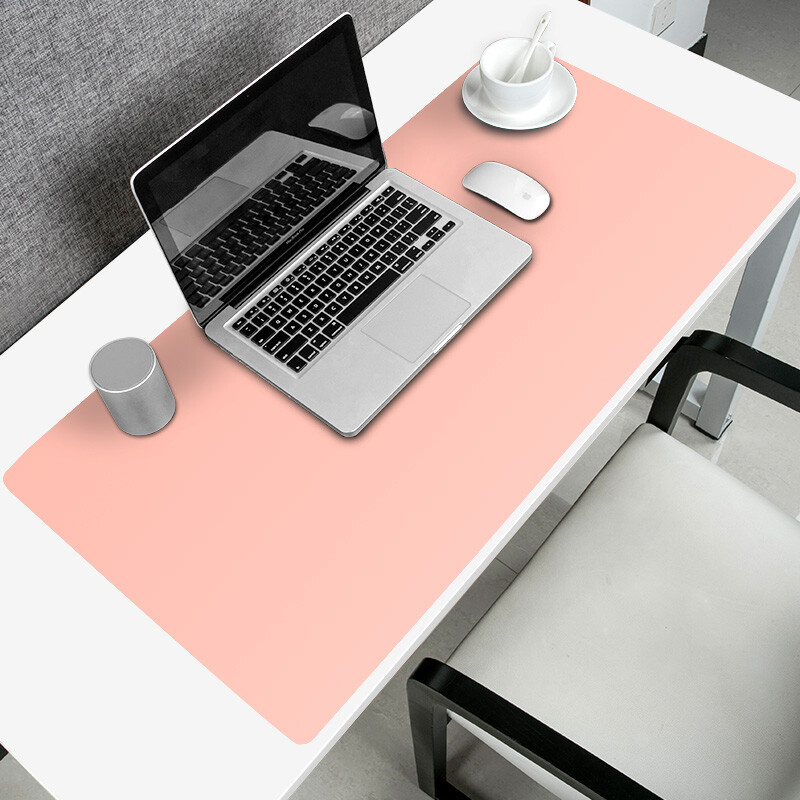 Cool Element Kuyuansu Mouse Pad Writing Computer Desk Oversized Leather Executive Desktop Waterproof Work Mat 90cmx40cm Pink
