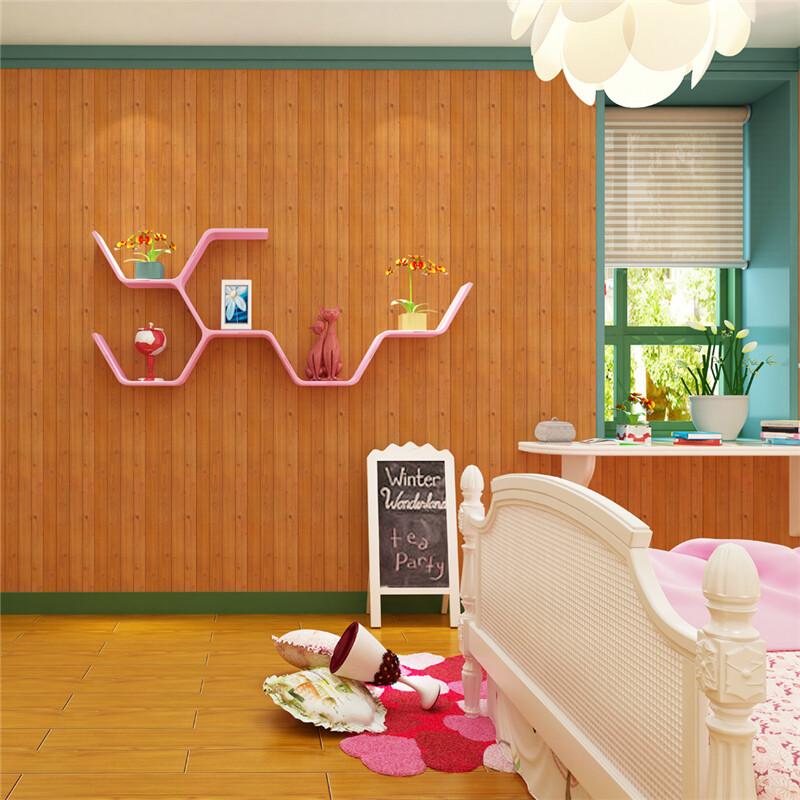Pvc Self Adhesive Wallpaper 45cm 10m Waterproof With Rubber Tear Open Direct Paste Korean Wood Grain Stickers 2083 2