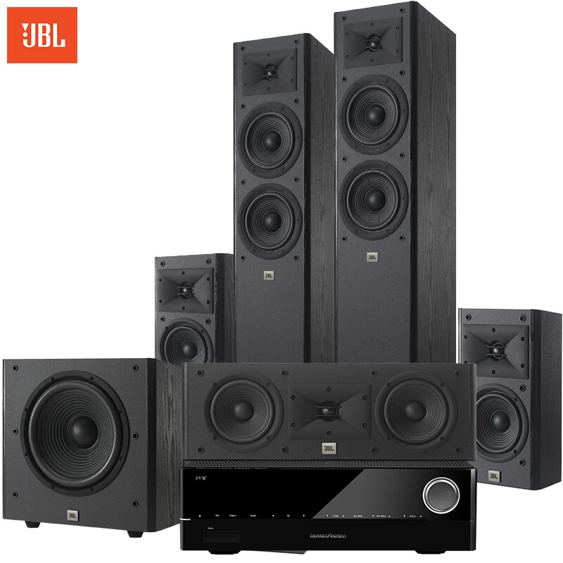 JBL Arena180BK+Harman Kardon 171S Amplifier Sound Speaker 5.1 Home Theater  TV Audio Floor Theater Combination Audio Living Room ...