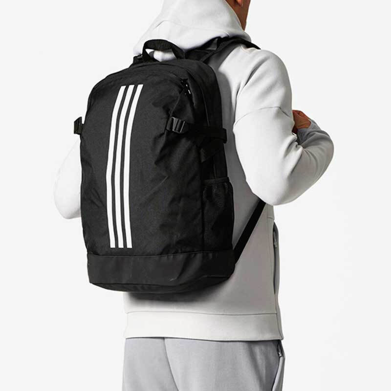 Adidas bag travel backpack computer backpack backpack men's and women's training bag student bag Adidas BP power IV m br5864 black and white