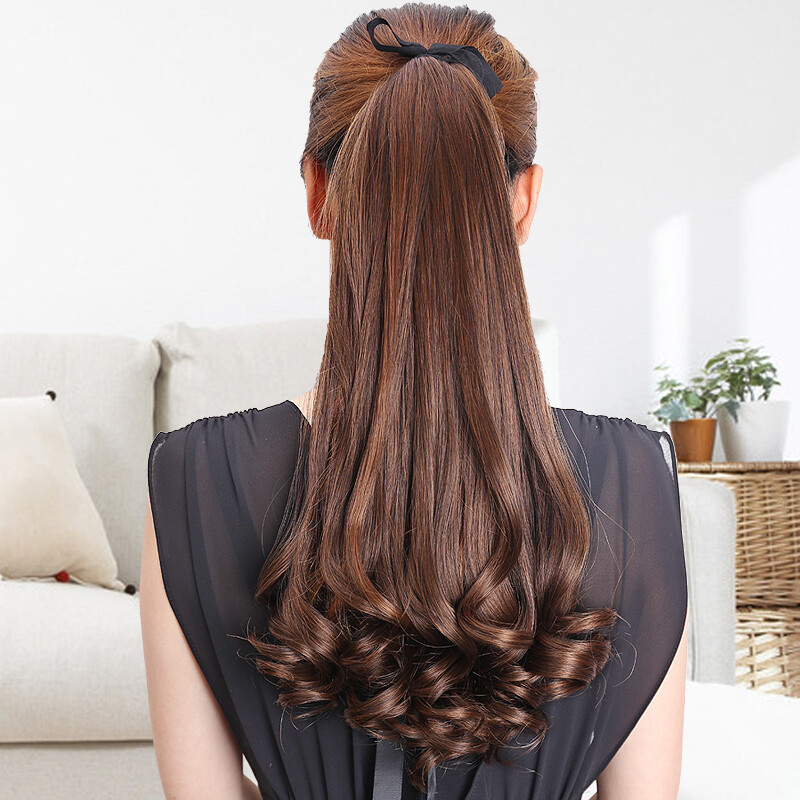 Ms Wig Ponytail Realistic Banded Hair Extension Film Female Growth