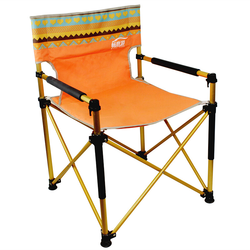 Easy Tour Easy Tour Outdoor Folding Chair Portable Director Chair  Audiovisual Chair Computer Chair Stool Aluminum Fishing Chair Ethnic Style  Orange