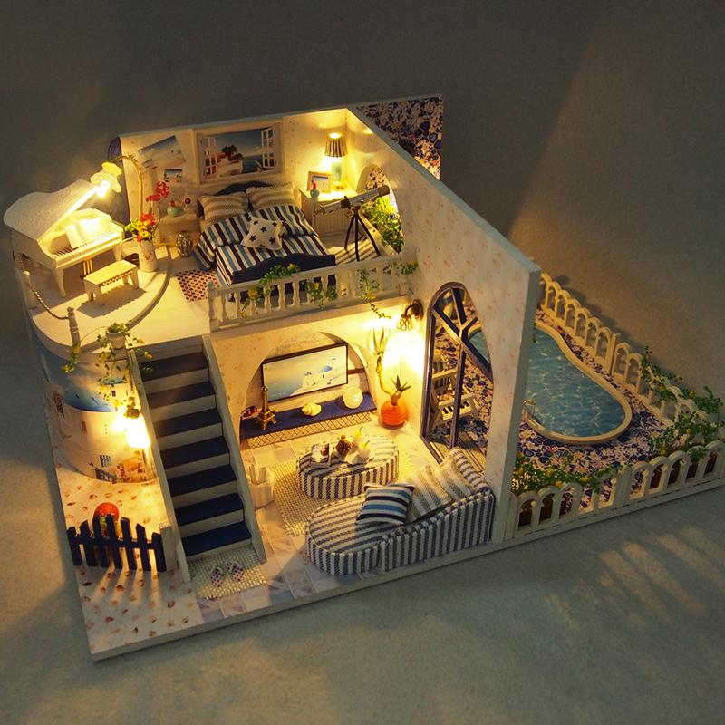 My Cabin Christmas Gifts For Girlfriends Birthday Girls Sending Boys Santorini Diy Making House Models Creative
