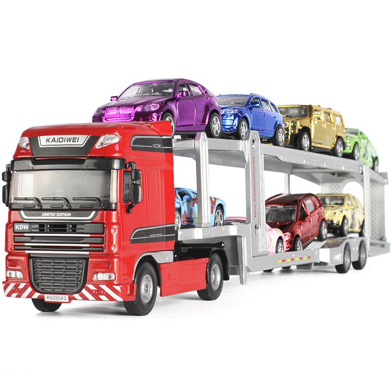 Kaidiwei alloy engineering car double-deck truck model children\'s ...