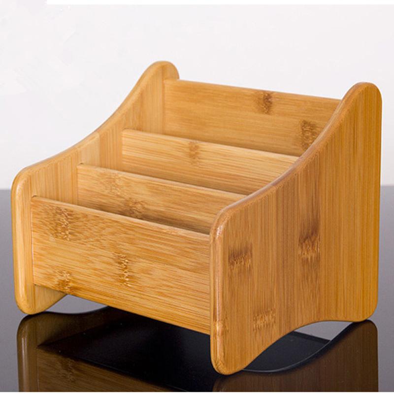 bamboo bedroom living room kitchen storage box desktop finishing box