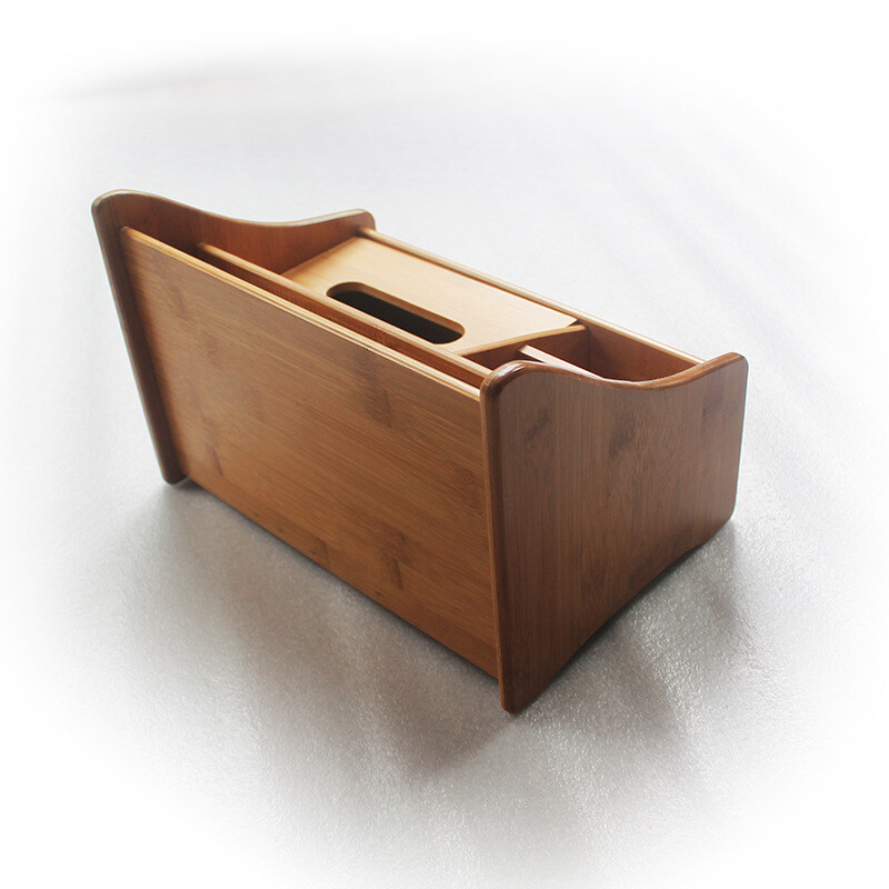 Objects And Remote Controls Storage Box Wood Multi Function Tissue Box Home  Living Room Coffee Table ...