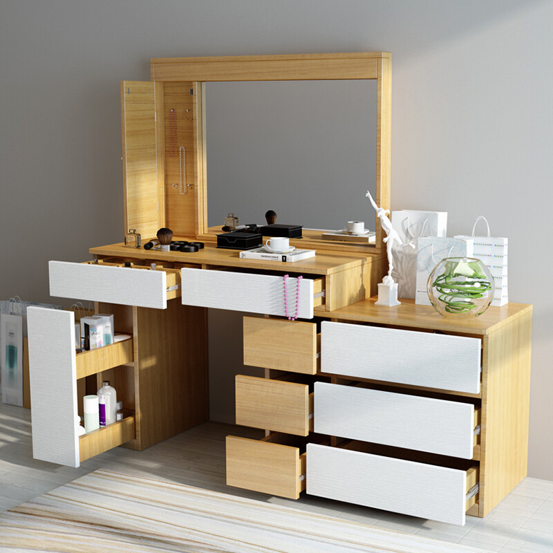 Only beautiful modern simple dressing table bedroom small dressing table  mini dressing cabinet telescopic makeup table