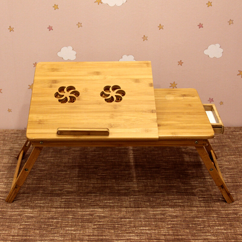 Times Square Computer Desk Bamboo Fan Version 55 35 Laptop Table Dormitory Bed With Lazy