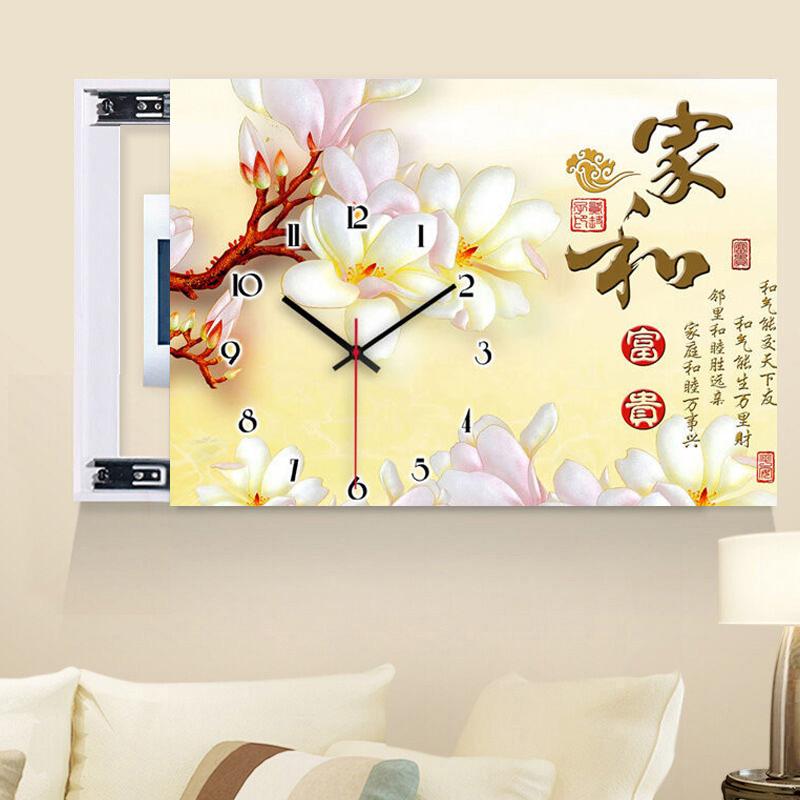 喆 喆 meter box decorative painting framed crystal face clock table ...
